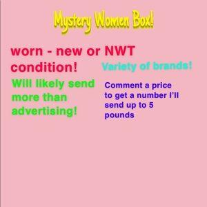 Women Mystery Box assortment tops skirts